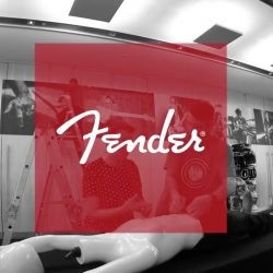 Fender Asian Dealer meeting Client: Fender Music Australia. Event staging & branding, crew management and video production for Custom Shop Guitar auction and new product seminar for Asian Dealers, Australian Dealers and their sales teams at The Concourse, Chatswood.